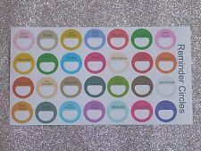 28 Reminder Circles-Planner/Diary/Scrapbooking Stickers -Hand Drawn- GlossyPaper