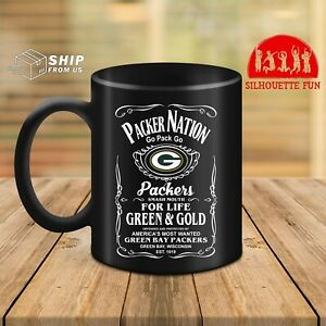 Green Bay American Football Team Mug Go Pack Go For Life Green And Gold Funny