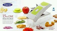 Famous 15 in 1 Genius Nicer Dicer plus Vegetable Cutter Fruit Slicer Peeler