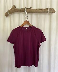 Lululemon Unisex, Burgundy Exercise T-Shirt, Size S