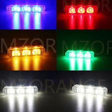 2 3 LED Car Truck Flashing Emergency Strobe Light Bar Red Blue Amber White Green