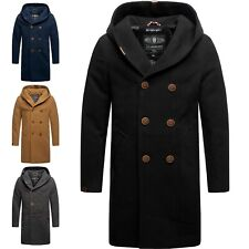 Marikoo Herren Winter Jacke Mantel Business Trenchcoat Wintermantel Parka IRUKOO
