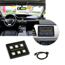 Car Marine 12V/24V 6-Gang LED Touch Screen Slim Switch Controls Panel Waterproof