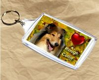 Rough Collie Keyring  Dog Key Ring Collie Dog Gift Xmas Gift Mothers Day Gift