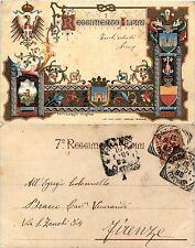 7' Reggimento Alpini, viaggiata 1904
