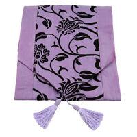 Raised Flower Blossom Table Runner Cloth Wedding Decor Table Cloth G