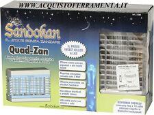 Elimina insetti a scarica elettrica QUAD-ZAN 7390 Sandokan con lampade led