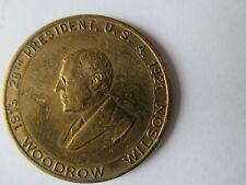 Le président woodrow wilson laiton médaille.