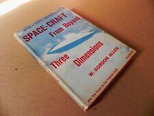 KGufo 1959 UFO Signed 1st Edition Gordon Allen Book Space Craft Three Dimensions