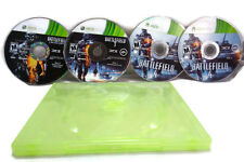 Battlefield  3 And 4 Bundle (Microsoft Xbox 360) 4 DISKS NO COVER ART