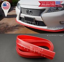 "1.3"" Red Carbon Fiber Look EZ Fit Bumper Lip Splitter Chin Trim For Mazda Subaru"