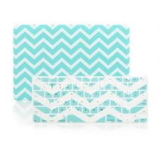 "Matte Chevron HOT BLUE Case + Keyboard Cover for Macbook Pro 15"" Retina A1398"