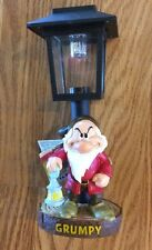 """Disney's GRUMPY from Snow White 7 Dwarves Solar Lamp Post Stands 9"""" Tall NEW"""