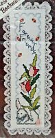 1980s NIP Counted Cross Stitch Embroidery Kit Forever Friends Bookmark 7017F