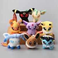 8 Style POKEMON Cute Soft Plush Toy Dolls Umbreon Eevee Espeon Jolteon Vaporeon