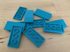 Lego 2x4 Smooth Tile in Dark Turquoise - pack of 10 (87079) NEW
