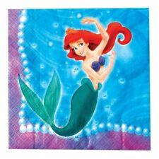 Little Mermaid Ariel Girls Kids Birthday Party Paper Napkins Serviettes 40 Pack