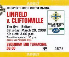 Ticket - Linfield v Cliftonville 29.03.08 Irish Cup Semi-Final