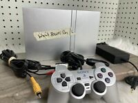 Silver Sony Playstation 2 PS2 Slim FOR PARTS DOES NOT POWER ON SCPH-79001 Broken