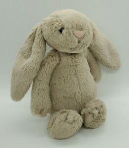 """Jellycat London 7"""" Rabbit NWOT Beige  Floppy Ears Fluffy Tail"""