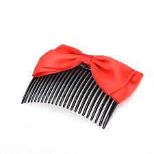 Fashion Women Ribbon Hair Comb Bowknot Hairpin Hair Clip Hair Jewelry Headbandgt