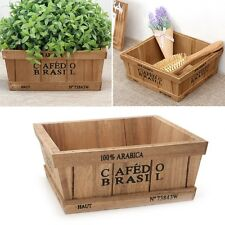 Wooden Flower Pot Garden Herb Planter Window Box Trough Succulent Plant Bed