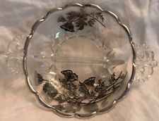 Silver City Sterling Silver and Lead Cut Crystal  Sectioned Handled Bowl