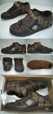 "New Mens 6.5 Circa "" 207 Se "" Brown Plaid Leather SkateBoard Shoes $70"