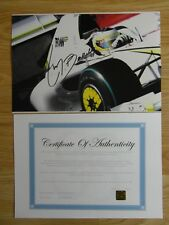R Barrichello Hand Signed Photograph Photo Authentic & COA Brawn GP Formula 1 18