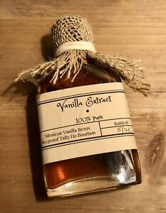 Bourbon Mexican Vanilla Bean Extract 100% Pure ~ 3.4oz. Small Batch ~ Great Gift