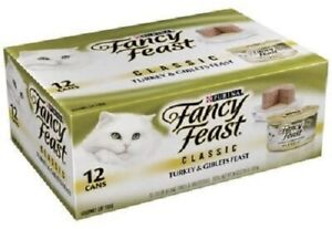 Purina Fancy Feast Turkey & Giblets Feast Classic Pate (12) 3oz Cans