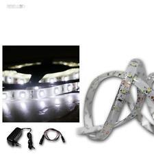 (8,60€/m) LED Lichtband Set 5m kalt-weiß + Trafo SMD-Stripe, Streifen, 300 LEDs