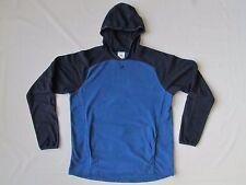 adidas blue fleece hoodie pullover sweatshirt thumb holes kangaroo pockets L