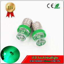 6PCS Mini E10 Screw 1 SMD Led Flood Bulb Light Lamp DC 3V Green Color for Torch