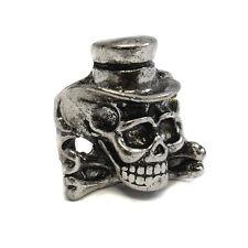 Metal Top Hat Skull Ring - Gothic Biker Rock Punk Circus- Cross bones SKR 70