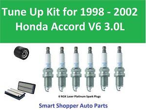 Tune Up1998 1999 - 2002 Honda Accord  V6 3.0L Spark Plug, Air Filter, Oil Filter