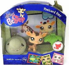 Littlest Pet Shop  Postcard Pets #902 Giraffe with safari hat