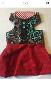 Red Dog Cat Harness Dress XXS 886