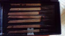O seven vintage Swiss gravers Glardon Vallorbe, unused
