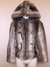 New Juicy Couture Faux Fur Sable Jacket Hooded Coat XS P Revolve