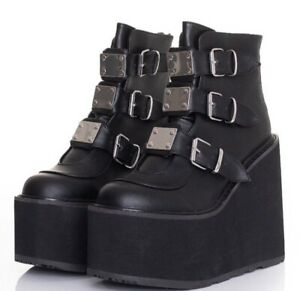 Demonia Swing 105 Boots size 5 - Brand new with box - vegan leather