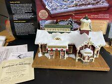"Hawthorne Village-Thomas Kinkade ""Christmas Station"" Lighted.judb"