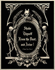 The Undead Arise Gothic Macabre Art Print Memento Mori Grim Reapers