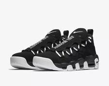 Nike Air MORE MONEY Sz 9 Black White AJ2998-001 Rare New !