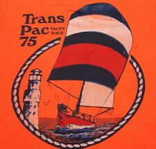S * vtg 70s 1975 TRANSPAC YACHT RACE t shirt * hawaii transpacific * 67.101