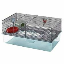 Favola Hamster Cage w Free Water Bottle, Exercise Wheel, Food Dish & Hamster Hid