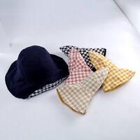 Double Sided Bucket Hats Fisherman's Hat Women Panama Caps Cotton Linen Sun Hats