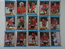 1989-90 O-Pee-Chee OPC Chicago Blackhawks Team Set of 15 Hockey Cards