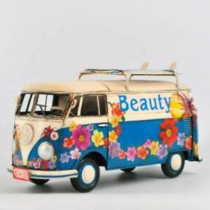 Vintage Hand Made Hawaiian Style Flower VW Decorative Mini Bus Sculpture Artwork