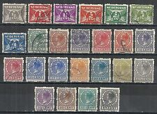 Netherlands stamps 1928 NVPH Roltanding(R)33-56  CANC  VF